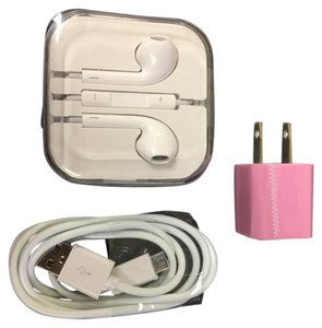 Android Or Iphone Headphones , charger and wall plug