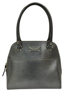 Kate Spade Metallic 2 Handle Satchel in Pewter