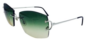 Cartier Vintage Green Gradient Square Cartier Sunglasses