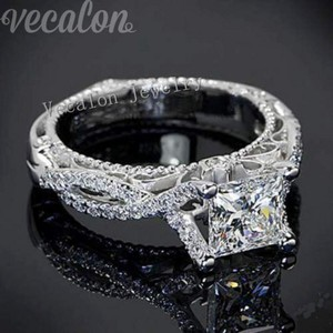 2ct Beautiful Cz Sterling Silver Wedding Ring