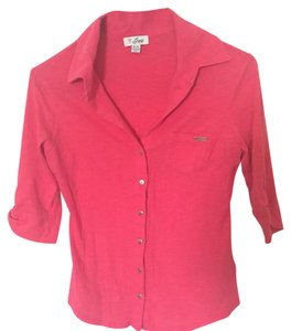 Guess Button Down Shirt coral