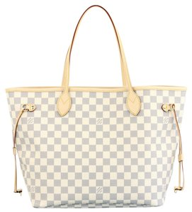 Louis Vuitton Rose Rose Ballerine Neverfull Mm Neverfull Rose Neverfull Damier Tote in Damier Azur