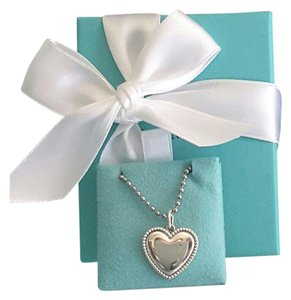 Tiffany & Co. Tiffany & Co Sterling Silver Beaded edge Heart Charm Pendant