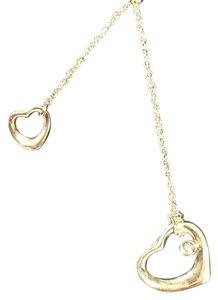 Tiffany Copy With Diamond Heart sterling silver hearts/chain with diamond lariat