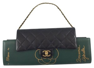 Chanel Black / Green Clutch