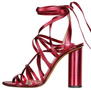 Jill Stuart Metallic Red Pumps