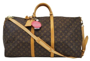 Louis Vuitton Lv Keepall 60 Monogram Bandouliere Travel Travel Bag