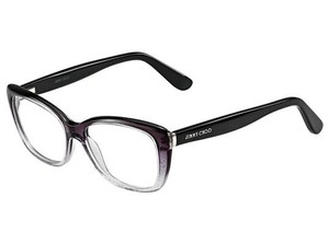 Jimmy Choo Jimmy Choo Eyeglasses 88 02PY Violet Shaded Crystal Glitter Black