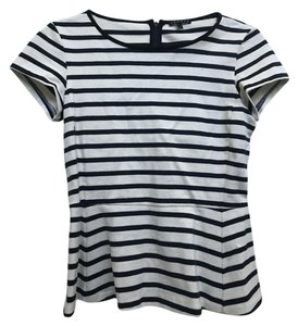 Theory And Stripes T Shirt Black & White