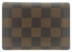 Louis Vuitton damier ebene canvas pass case card holder bifold