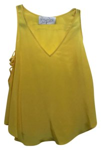 Rory Beca Silk Night Out Top Yellow