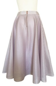 Ted Baker A Line Wedding Cocktail Skirt Blushed Gray Plum