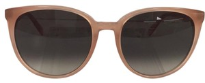 Céline Brand New Round Silver CL41068/S N80Z3 Antqrose With Logo Gold on Temple Plastic Style Sunglasses