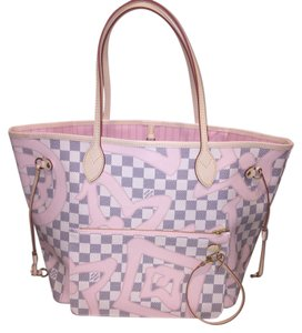 Louis Vuitton Tahitienne Neverfull Mm Neverfull Rose Limited Edition Rose Ballerine Tote
