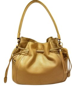 Cole Haan Refurbished Taupe Leather Extra-large Draw String Hobo Bag