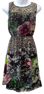 MM Couture short dress Multi Colored Leopard Floral Animal Print on Tradesy