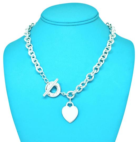 Tiffany And Company Toggle Necklace: Tiffany & Co. Stainless Steel Heart And Toggle Necklace