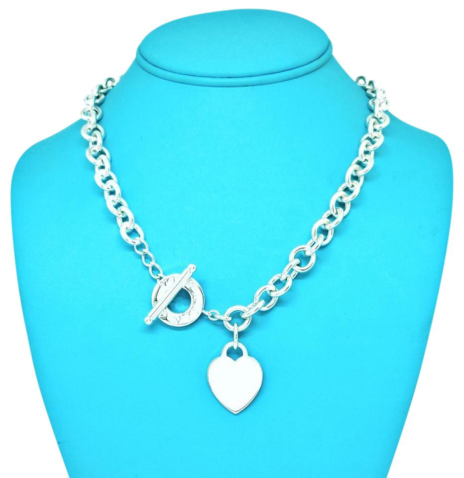 61be57b629c Tiffany & Co. Stainless Steel Heart and Toggle Necklace
