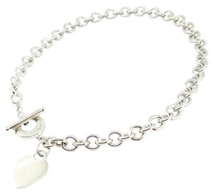 Tiffany & Co. Tiffany & Co. Stainless Steel Heart and Toggle Necklace.