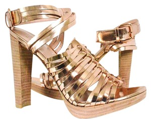 Stuart Weitzman Rose Gold Sandals