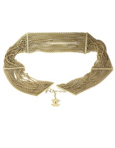 Chanel Chanel Gold Multi-Strand Chain Link Belt