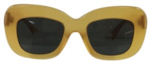 Céline Brand New Square CL41432/S PD9 70 HONEY With Logo On Temple Plastic Style Sunglasses