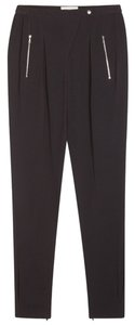 Sandro Woman Zipper Confort Elastic Trouser Pants Black