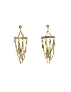 Givenchy Givenchy Goldtone Multi-Strand Chain Link Chandelier Earrings