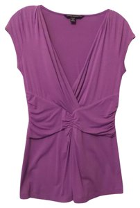 Banana Republic Long Knit Ruched Small Oversized Top Purple