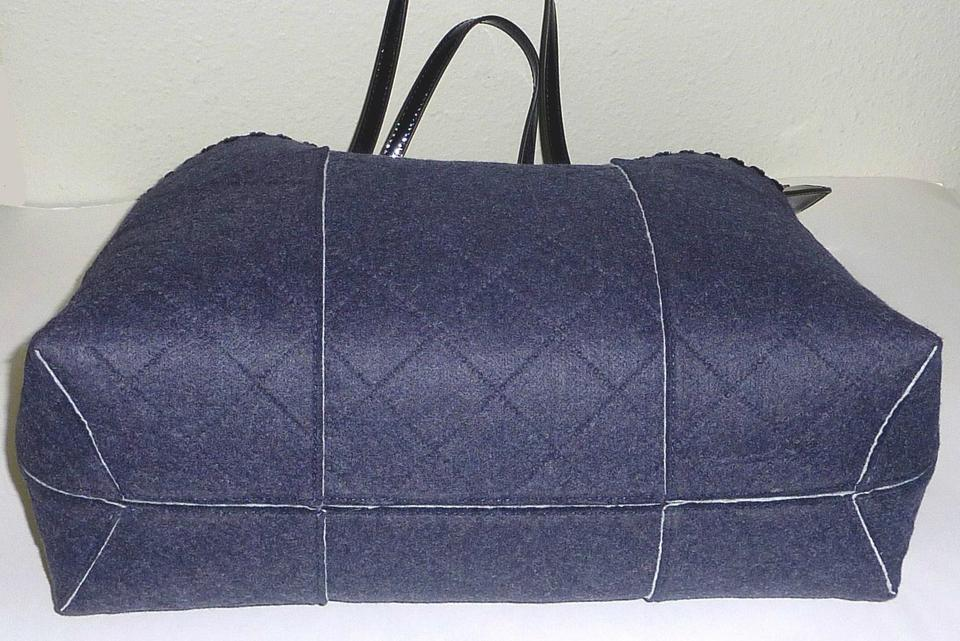 a9817165fe9a Tory Burch T 2 Piece Colorblock Shoulder Pouch Navy Felt Tote - Tradesy