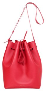 Mansur Gavriel Bucket Drawstring Leather Cross Body Bag