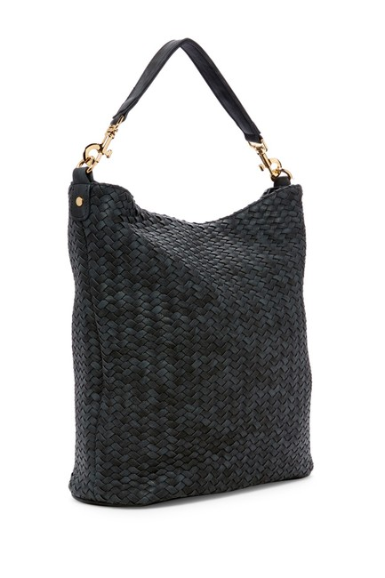 Item - Madison Black Synthetic Exterior Textile Lining Hobo Bag