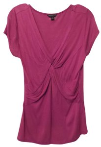 Banana Republic Long Knit Ruched Small Oversized Top Magenta