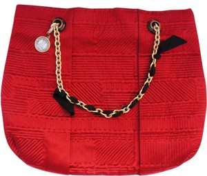 Lanvin Chain Link Satin Grosgrain New With Tags Tote