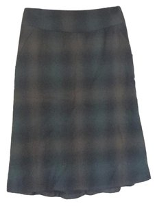 Banana Republic Skirt black / dark green / brown plaid