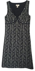 Ann Taylor LOFT short dress Black/Ivory on Tradesy
