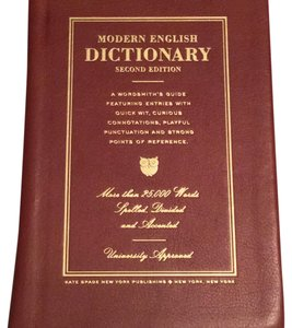 Kate Spade Dictionary Leather Read Brown Clutch