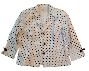 622fc510b3ec dressbarn White with black polka dots Jacket