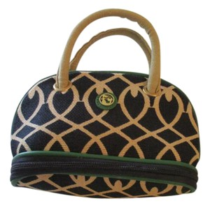 Spartina 449 Navy Green Cream Mini Cosmetic Bag