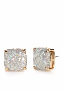 Kate Spade 12K Gold Plated Small Square Stud Earrings Sale $25.99
