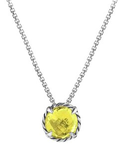 David Yurman Chatelaine Pendant Necklace with Lemon Citrine