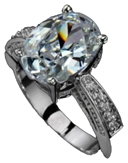 Other size 7 / 4.50 CTW lab created diamond plt white gold