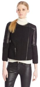 Rebecca Minkoff Leather Tweed Zippers Leather Jacket