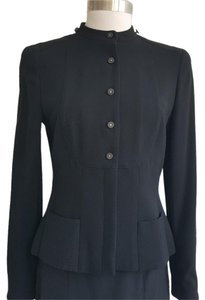 Chanel Wool Fitted Black Blazer