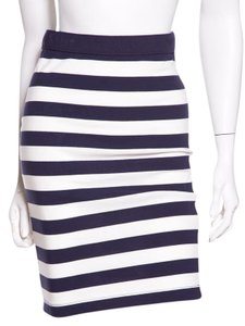 Mark D Sikes Skirt Navy and White