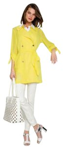 Etcetera Spring Summer Trench Coat Coat Yellow Jacket