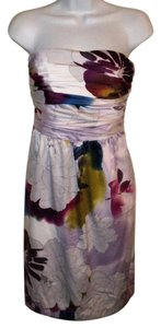 The Limited Strapless Floral Print Prom Dress