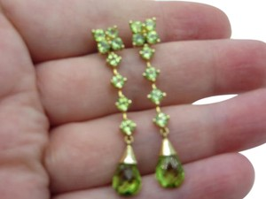 Other 14K Yellow Gold Peridot Earrings With Removable Dangle Jackets