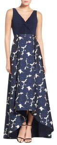 Adrianna Papell Gown Sleeveless Ball Gown Floral Print Hi Lo Dress