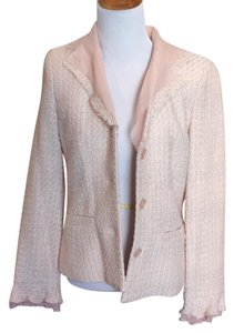 Bloomingdale's Cream, pink, gold Blazer